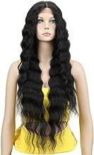 Joedir Lace Front Wigs 30'' Long Wavy Synthetic Wigs For Black Women 130% Density Wigs(BLACK COLOR)
