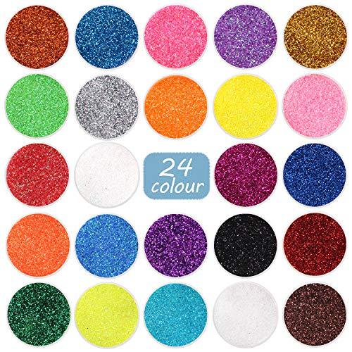 Fine Glitter 24 Colors Craft Glitte…