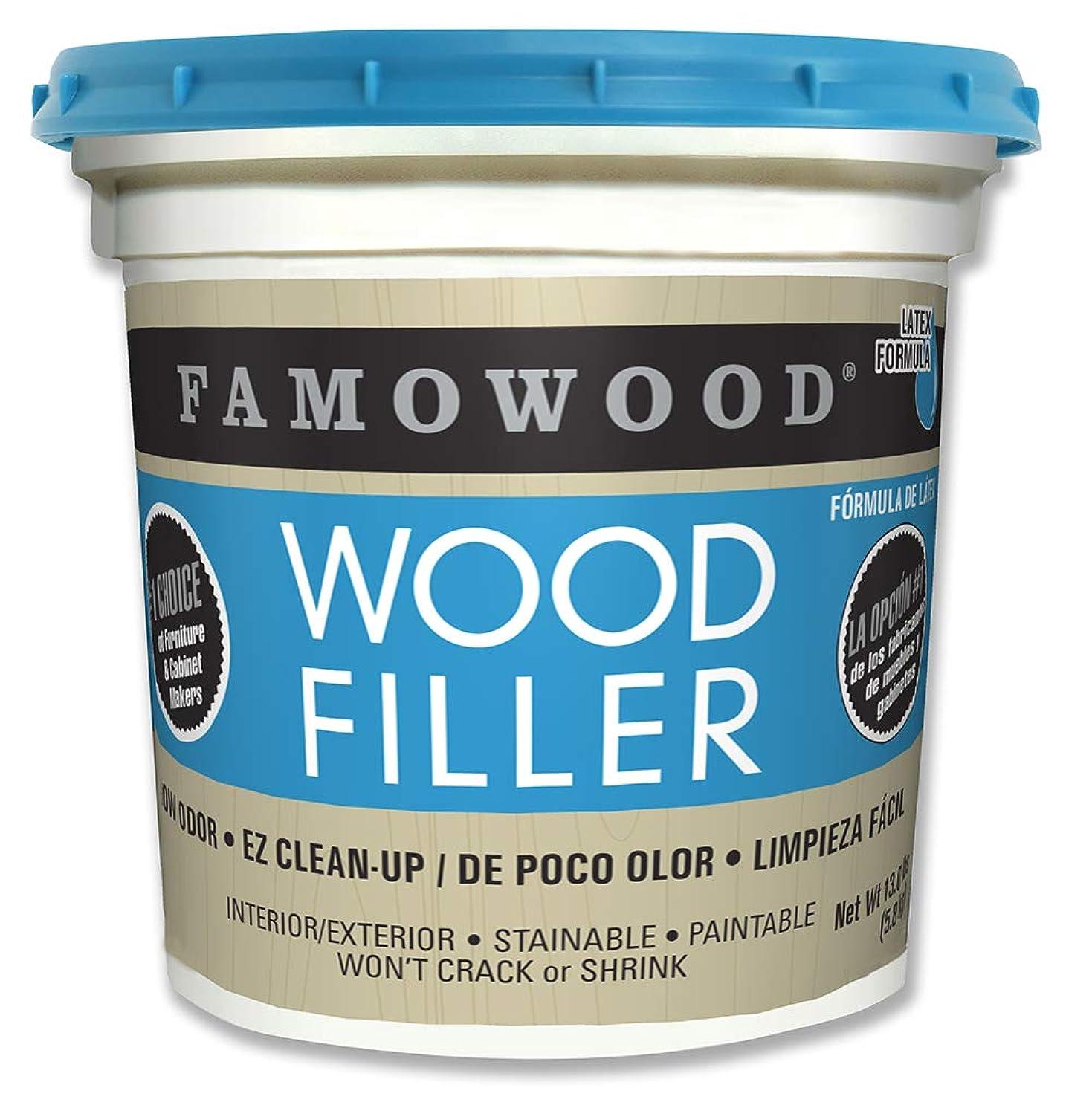 Famowood 40002142 Latex Wood Filler, Walnut, Net Wt 13.0 lbs.