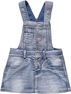 Kidscool Baby & Little Girls Cotton Denim Adjustable Overalls Dress