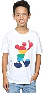 Disney Niños Mickey Mouse Rainbow Pose Camiseta