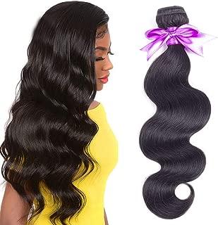 Brazilian Body Wave Human Hair Bundles 10inch 8A Unprocessed Brazilian Virgin Human Hair Weave Weft Bundles Natural Black Color 100g/bundle