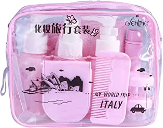 Lurrose 1 Set 10 Pcs Travel Bottles Portable Refillable Travel Containers Toiletry Bottles Sets for Shampoo Lotion (Lavender)
