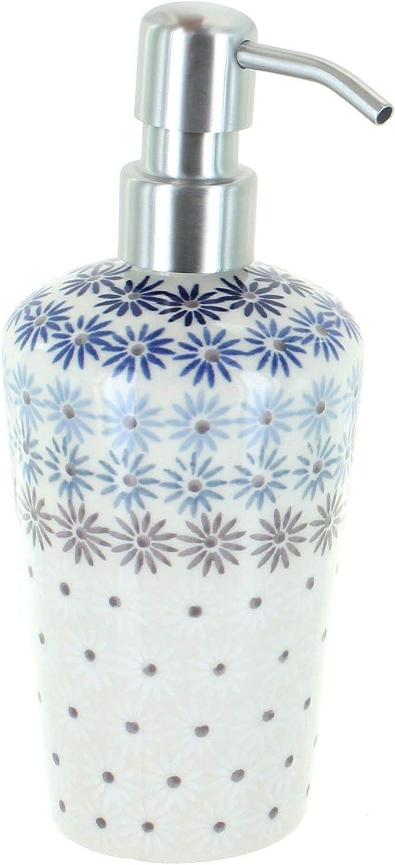 Blue Rose Polish Pottery Harmony Max 43% OFF Dispenser Soap Omaha Mall