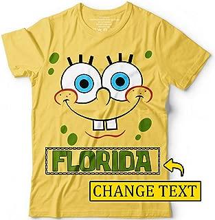 Sponge Bob Face Cartoon Character Customized Handmade T-Shirt Hoodie_Long Sleeve_Tank Top_Sweatshirt