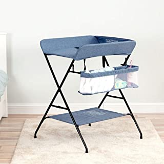 Diaper Massage Station Baby Diaper Table Changing Clothes/Massage Touching/Bath Nursing Table Baby Cot Multifunction Folding Newborn Changing Table Folding Massage Touch Table (Color : Blue)