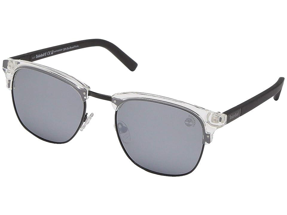 Timberland TB9148 (Crystal/Smoke Polarized) Fashion Sunglasses