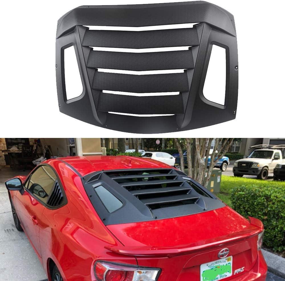 DXGTOZA Very popular Rear Window Louvers Matte Sun Shade Windshield ABS Black 5 ☆ very popular