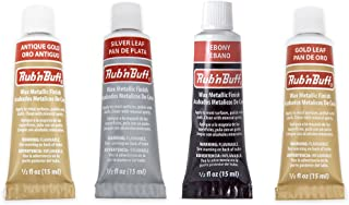 Rub-N-Buff 4 Color Assortment (Silver Leaf, Antique Gold, Gold Leaf, Ebony)