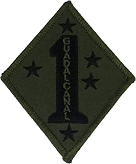 USMC 1ST MARINE DIVISION GUADALCANAL UNIT Patch - OD Green/Black - Veteran Owned Business.