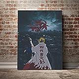 WSHIYI Minato Namikaze Naruto Anime Leinwand Poster