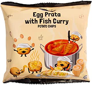 F.EAST Egg Prata with Fish Curry Potato Chips, 22g