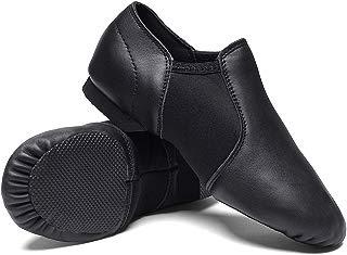 STELLE Leather Jazz Slip-On Dance Shoes for Girls Boys...