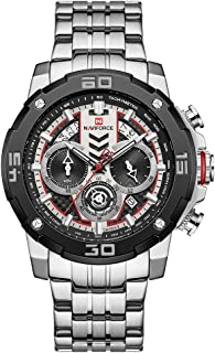 Naviforce Men's silver Dial Stainless Steel Analogue Classic Watch - NF9175-SW