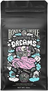 Bones Coffee Company Flavored Coffee Beans, Cookies N Dreams Whole Bean Coffee for Cold Brew Coffee, Low Acid Medium Roast...