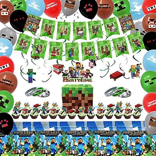 HAFTSS ピクセルビデオゲーム バルーンセット 風船 誕生日 飾り付け 男の子 バースデー 飾り バースデーバルーン 誕生日飾りつけ (豪華)
