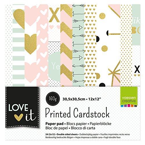 Vaessen Creative 200105-002 Cardstock, Mehrfarbig, Regular