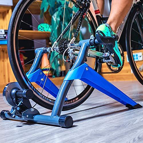 LJLYL Entraîneur De Vélos, Accueil Vélo Rouleaux De Formation, Intérieur Exercice Magnétique Resistances Vélo Fitness Trainer pour 26-28 Pouces De Montagne Routes De Vélos