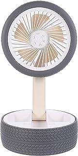 WINOMO Dobrável de Carregamento USB Fan Ventilador Recarregável Ventilador de Mesa Pneu Estilo Verão
