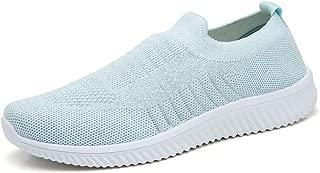 Akk Womens Athletic Walking Shoes Mesh Breathable Comfortable Slip on Nurse Sneakers