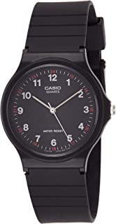 Casio Unisex-Adult Quartz Watch, Analog Display and Resin Strap MQ-24-1B