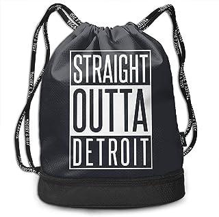 Bernie Dodd Mochila con Cordón Mochila con Cordón Sport Gym Sackpack Mochila con Cordón Mochila Sport Gym Sackpack Straight Outta Detroit Mochila