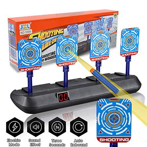 OMG Bersaglio Elettrico per Nerf Guns, Auto-Reset Intelligent Light Sound Effect Scoring Target per Nerf N-Strike Elite/Mega/Rival Series