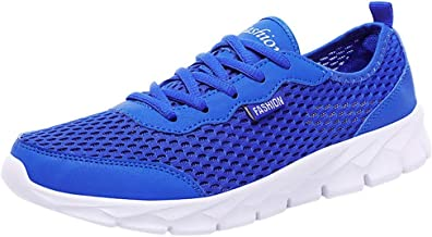 NEEKEY Men' s and Women Sneakers Lightweight Casual Walking Shoes Gym Breathable Mesh Outdoor Running Sports Shoes