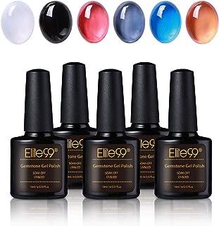 Elite99 UV LED Gel Polish Soak Off Nail Polish Manicure Pedicure Nail Art Polish Professional Salon 7.3Ml Pearl Golden Yellow 90626 Pearl Golden Yellow