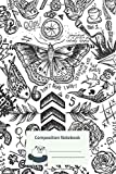 Composition Notebook: One Direction Tattoos Composition Notebook for Creative Lettering or Note taking