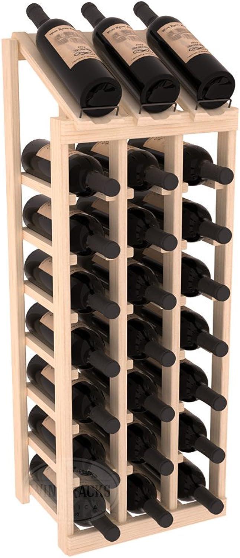 Wine Racks America Pondepink Pine 3 Column 8 Row Display Top Kit. Unstained