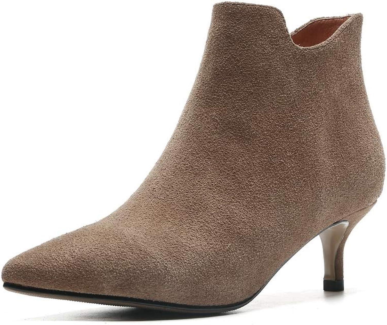 AdeeSu Womens Fashion Dress Solid Leather Boots SXE05087