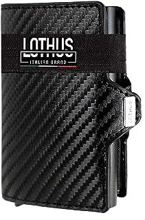 LOTHUS Porta Carte Di Credito Slim RFID 2a Generazione Portafoglio Uomo Donna Sottile Schermato Portamonete Tascabile Port...