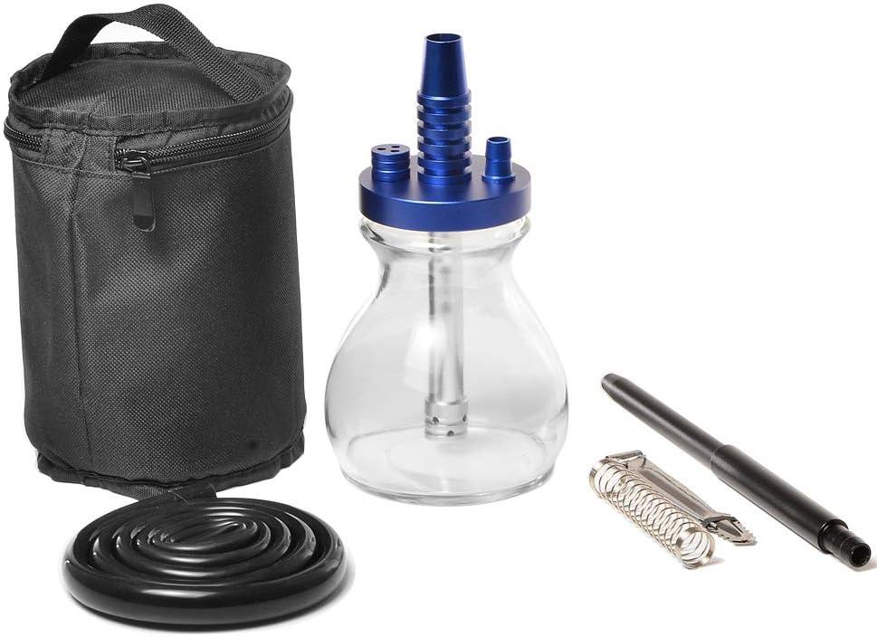 Cachimba, mini cachimba de vidrio, juego de cachimba de viaje, accesorios de clip de carbón de resorte de manguera de silicona, caja de regalo de cachimba, utilizada para filtrar sustancias nocivas