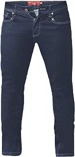 Duke London D555 Cedric Tapered Fit Stretch Jeans - Blue 42 44 46 48 50 52 54 56 58 60 62 64