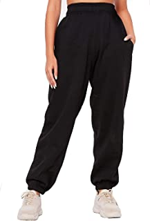 GirlzWalk Womens Fleece Casual Pockets Oversized Jogging Joggers Tracksuit Bottoms Ladies Jog Pants