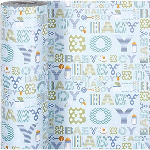 Inpakpapier, B: 50 cm, baby boy, 150m