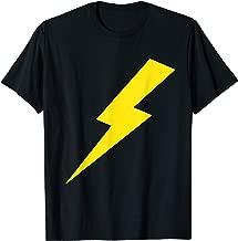 Awesome Lightning Bolt Yellow Print T-Shirt