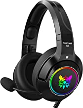 ONIKUMA Gaming Headset Xbox One Headset PS4 Headset with 7.1 Surround Sound K9 Gaming Headphone with Noise Canceling Mic & LED Light & Soft Memory Earmuff for for PC/MAC/PS4/Tablet/Nintendo 3DS
