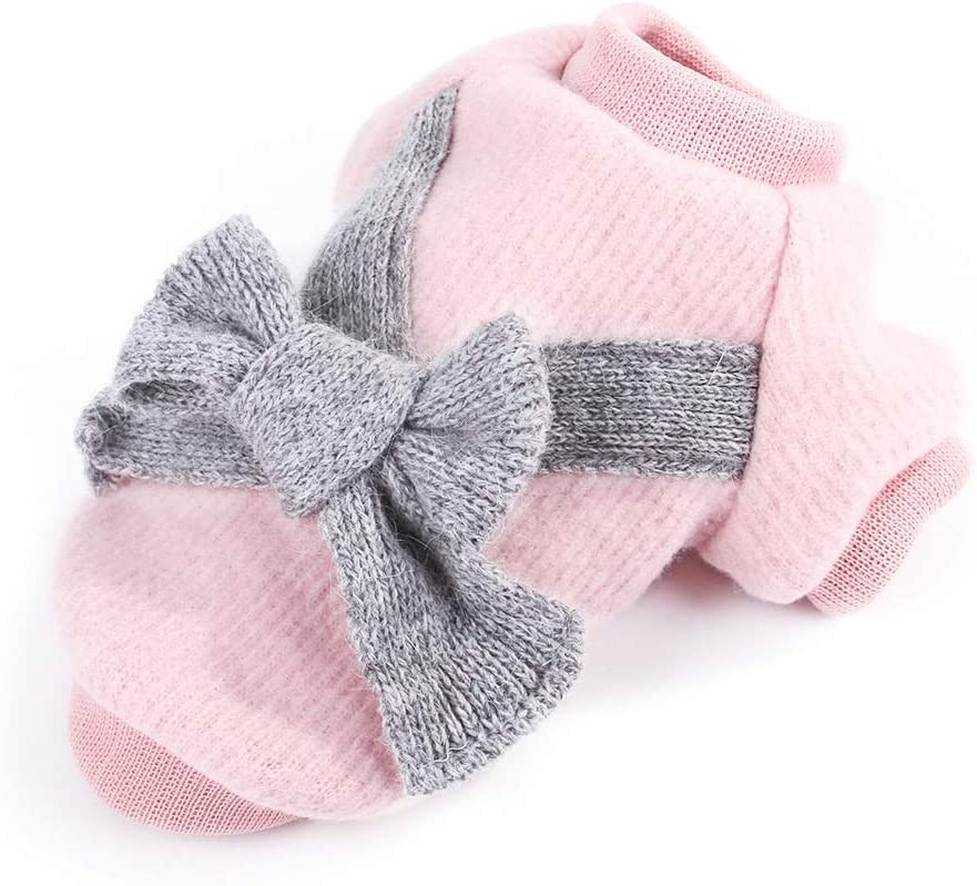 Cute Dog Clothes Spring new work Thicken Arlington Mall Warm Sweater Pet Co Bowknot