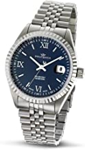 Philip Men's Caribbean Analogue Watch R8253107335 with Mechanical Movement, Blue Dial and Stainless Steel Case