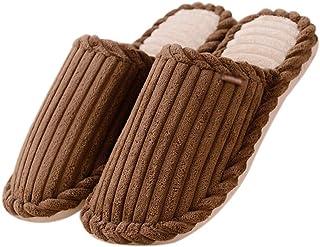 Monbedos 1 Paire Chaussons Pantoufles Chaudes Automne Hiver Pantoufles Velours côtelé Accueil Slippers Chaussures Size 43-...