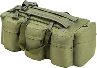 vidaXL 3-in-1 Army-Style Duffel Bag 120L Backpack Olive Green/Camouflage/Black