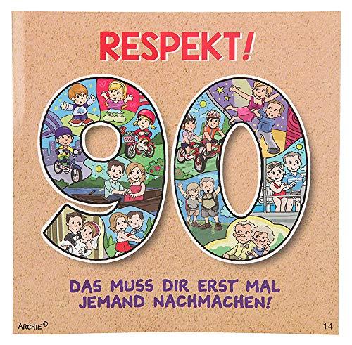 Depesche 3865.014 Glückwunschkarte mit Musik und Motiv von Archie, 90. Geburtstag, Mehrfarbig