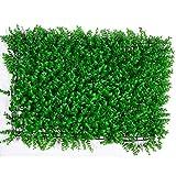 Ilios Innova 20 Piezas Follaje Artificial tamaño 40x60cm Decoracion Casa Hogar Jardin Interiores Exteriores Verde Decoración Vertical (Tropical)