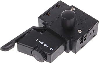 SALAKA Disparador de Control de Velocidad de Taladro eléctrico Negro 1PC 10A Bloqueo en el Interruptor de botón A