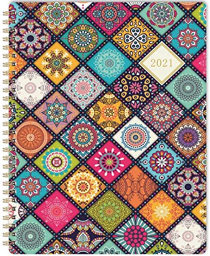 "2021 Planner - Weekly & Monthly Academic Planner 2021 with Premium White Paper, 8"" x 10"", Jan 2021 - Dec 2021, Twin-Wire Binding with Flexible Colorful Cover"