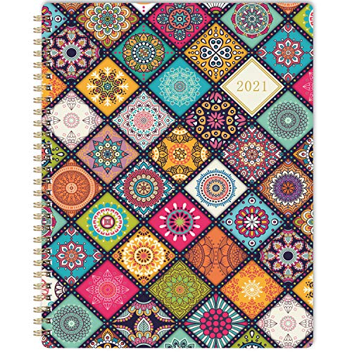 2021 Planner - Weekly Monthly Academic Planner 2021 with Premium White Paper 8 x 10 Jan 2021 - Dec 2021 Twin-Wire Binding with Flexible Colorful Cover