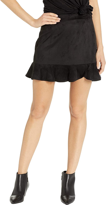 Jack Women's Sagittarius Faux Suede Ruffle Skirt