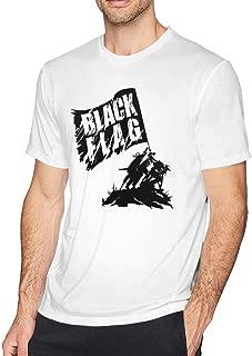 Chelssat Black Flag Band Men's Cool Short Sleeve Tee White